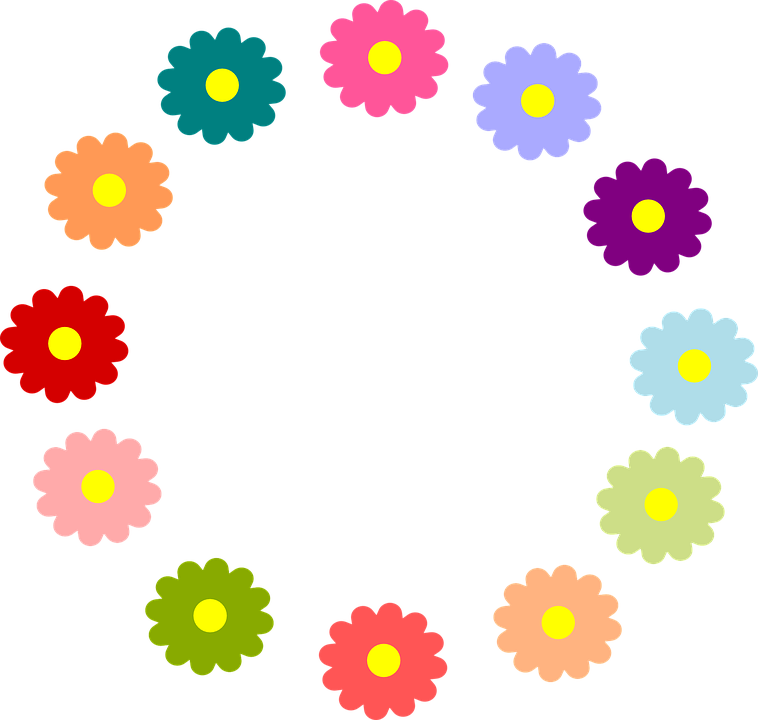 Free Vector Graphic Flowers Spring Summer Circle