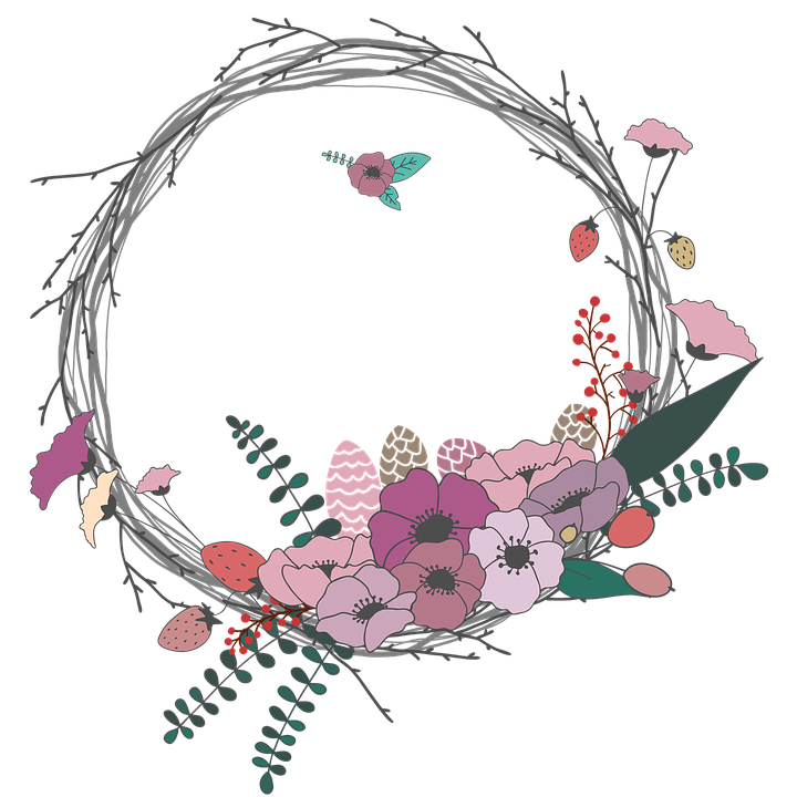 Free illustration: Flowers, Twig, Corolla, Wreath.