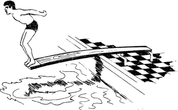 Springboard Diving Clipart.