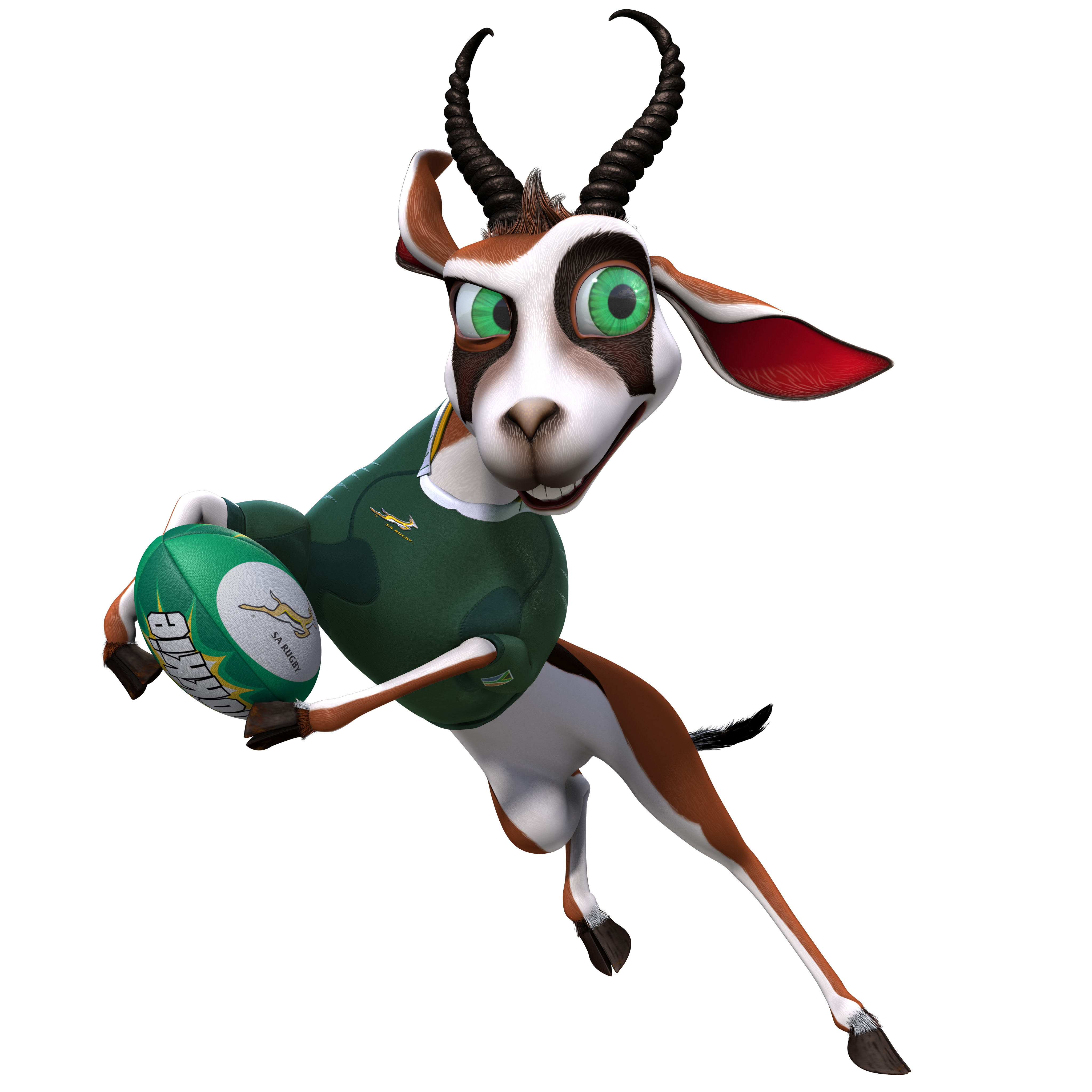 Springbok rugby clipart.