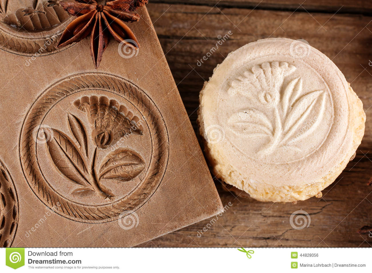 Swiss Specialty Cookies, Springerle Stock Photo.