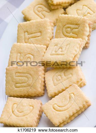 Stock Photograph of Custard Cream Biscuits k1706219.