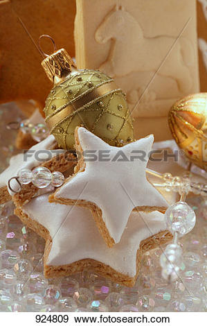 Stock Photograph of Cinnamon stars and springerle cookies 924809.