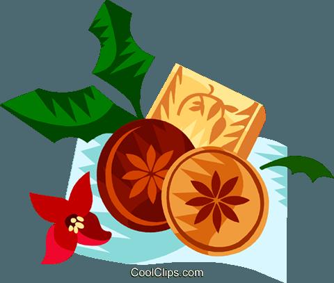 German Christmas springerle cookies Royalty Free Vector Clip Art.