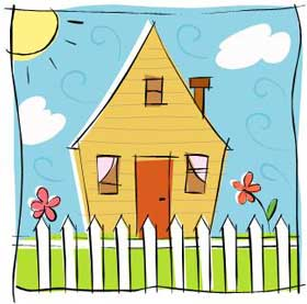 Free Spring Clip Art House.