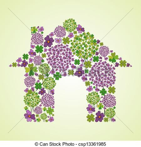 House spring clipart.