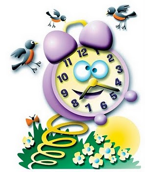 Spring forward time change clipart.