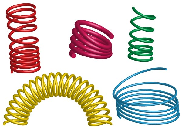 Free clipart coil spring.