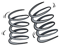 Bouncing Springs Stock Illustrations.