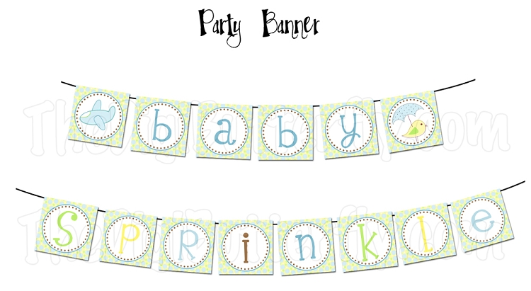 Baby Sprinkle Clipart.