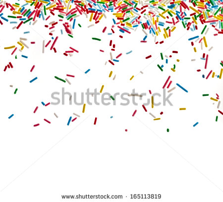Border Frame Colorful Sprinkles Isolated On Stock Photo 165113819.