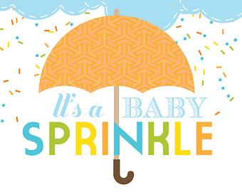 Baby sprinkle invite.