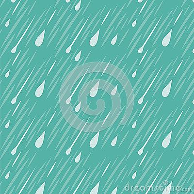 Rain Background Pattern Stock Vector.