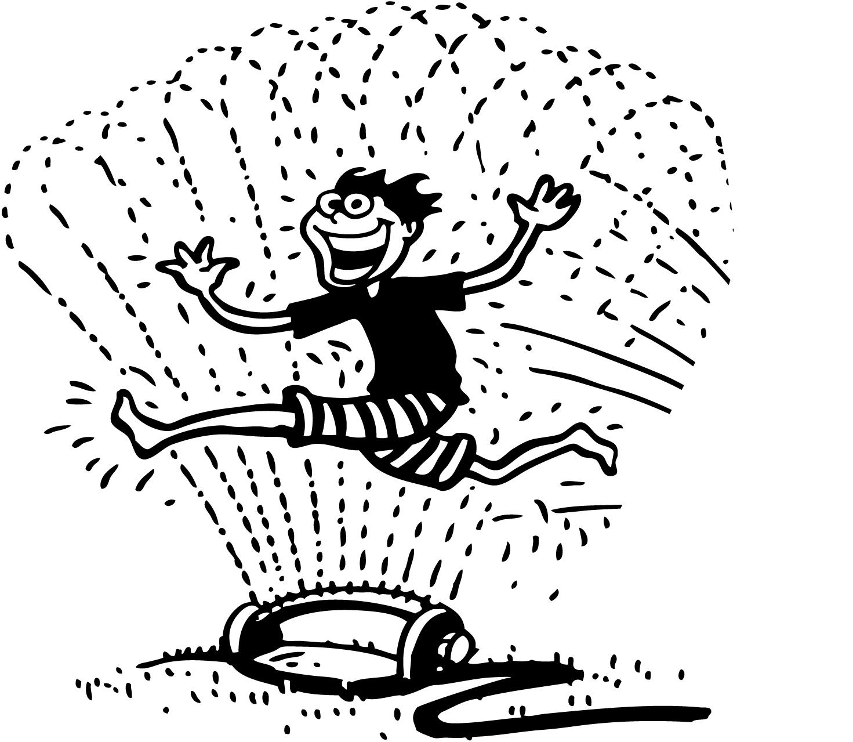 Fun Water Sprinkler Clipart.
