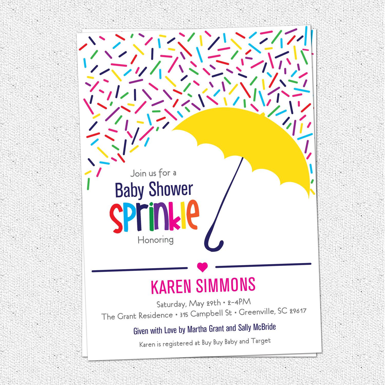 Baby Girl Sprinkle Clipart.