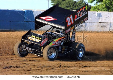 Sprint Cars Stock Images, Royalty.