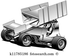 Sprint car Illustrations and Clipart. 4 sprint car royalty free.