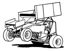 Sprint Car Racing Metal Wall Art.
