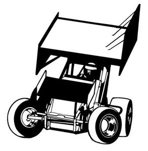 Winged Sprint Car Clipart.