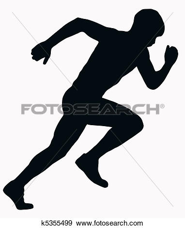 Clip Art of People running silhouettes k6957529.