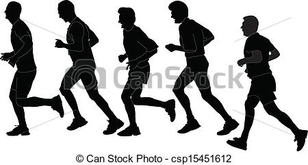 Vector Clip Art of marathon collection.