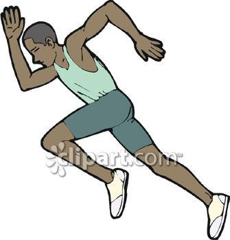 Sprinter running a race.