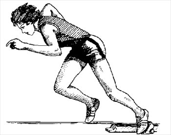 Free sprinter Clipart.