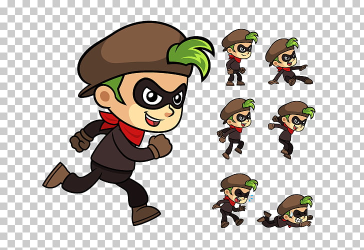 Sprite Animation Game , thief PNG clipart.
