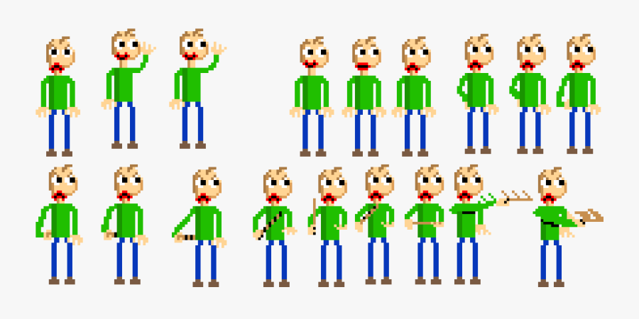 Baldi Sprite Sheet , Free Transparent Clipart.