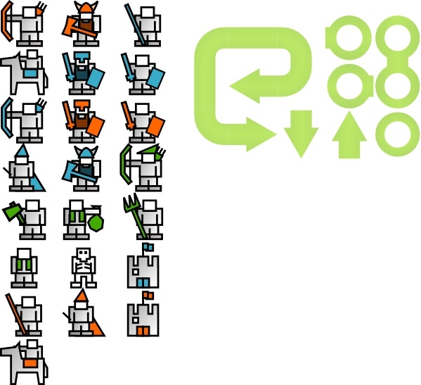 Strategy Game Sprites clip art Free vector in Open office drawing.