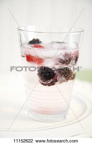 Stock Photo of Raspberry and Blackberry Spritzer 11152622.