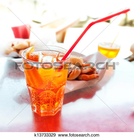 Stock Photograph of Long drink Spritz k13733329.