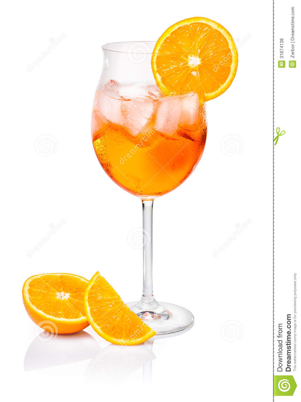 Aperol Spritz In A Wine Glass Royalty Free Stock Photos.