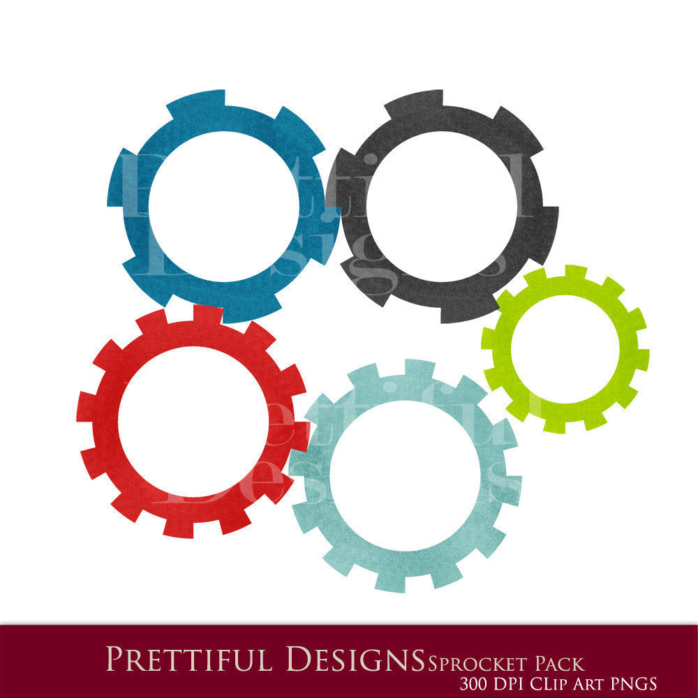 20 off SALE Robot Clip Art Sprockets and by PrettifulDesigns.