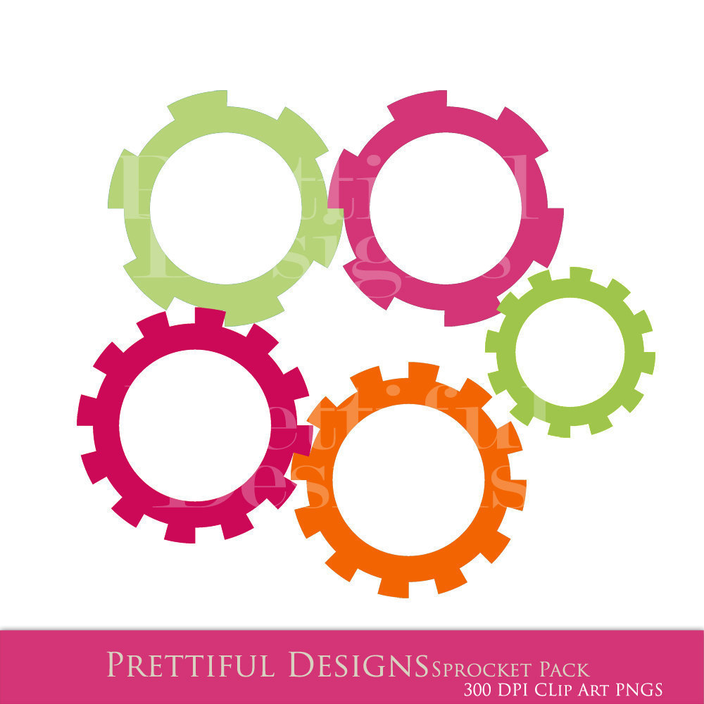 Sprockets And Gears Clipart.