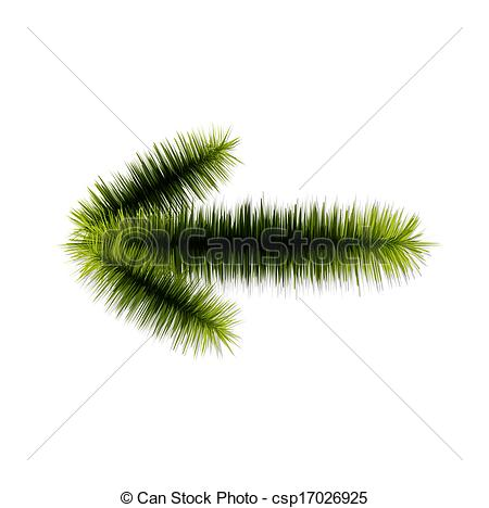 Vector Illustration of The spruce twig arrow.
