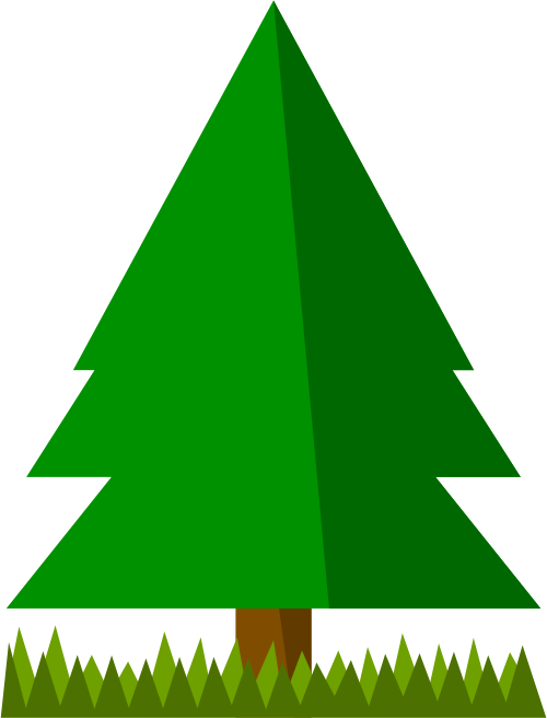 Free Simple Spruce Tree Clip Art.