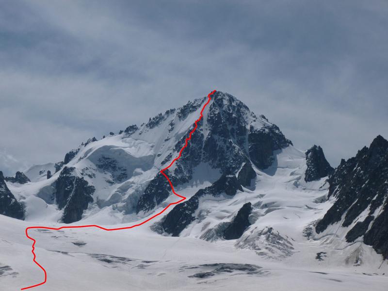Finally Climbing the Aiguille du Chardonnet by the Migot Spur.