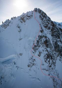 Chardonnet Migot Spur, first ski descent by Bruchez and Jornet Burgada.