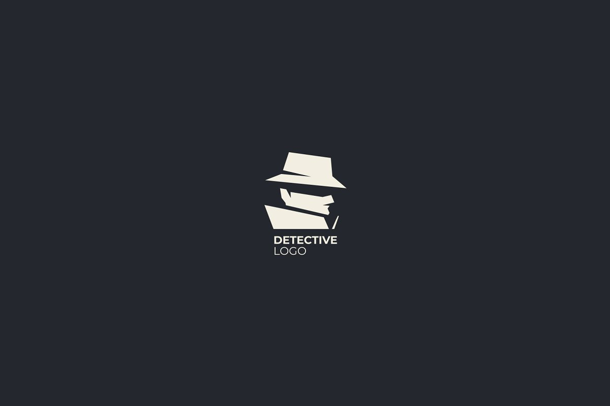 Spy detective logo design template..
