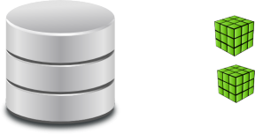Microsoft SQL Server Database Optimization Clipart.