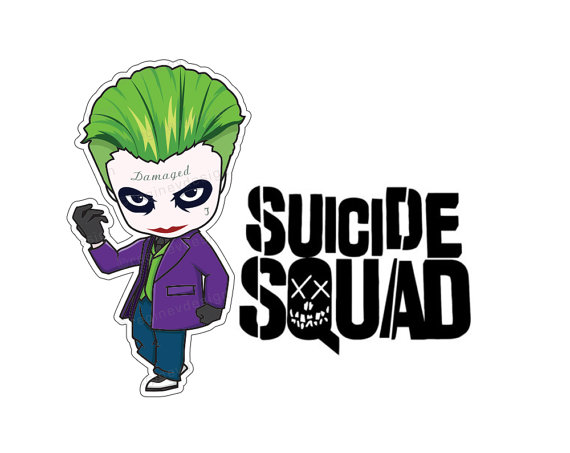 Joker Suicide Squad Clipart Vector Illustration Harley by.