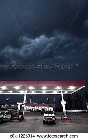 Stock Photo of A Project Vortex 2 storm chaser waits out a squall.