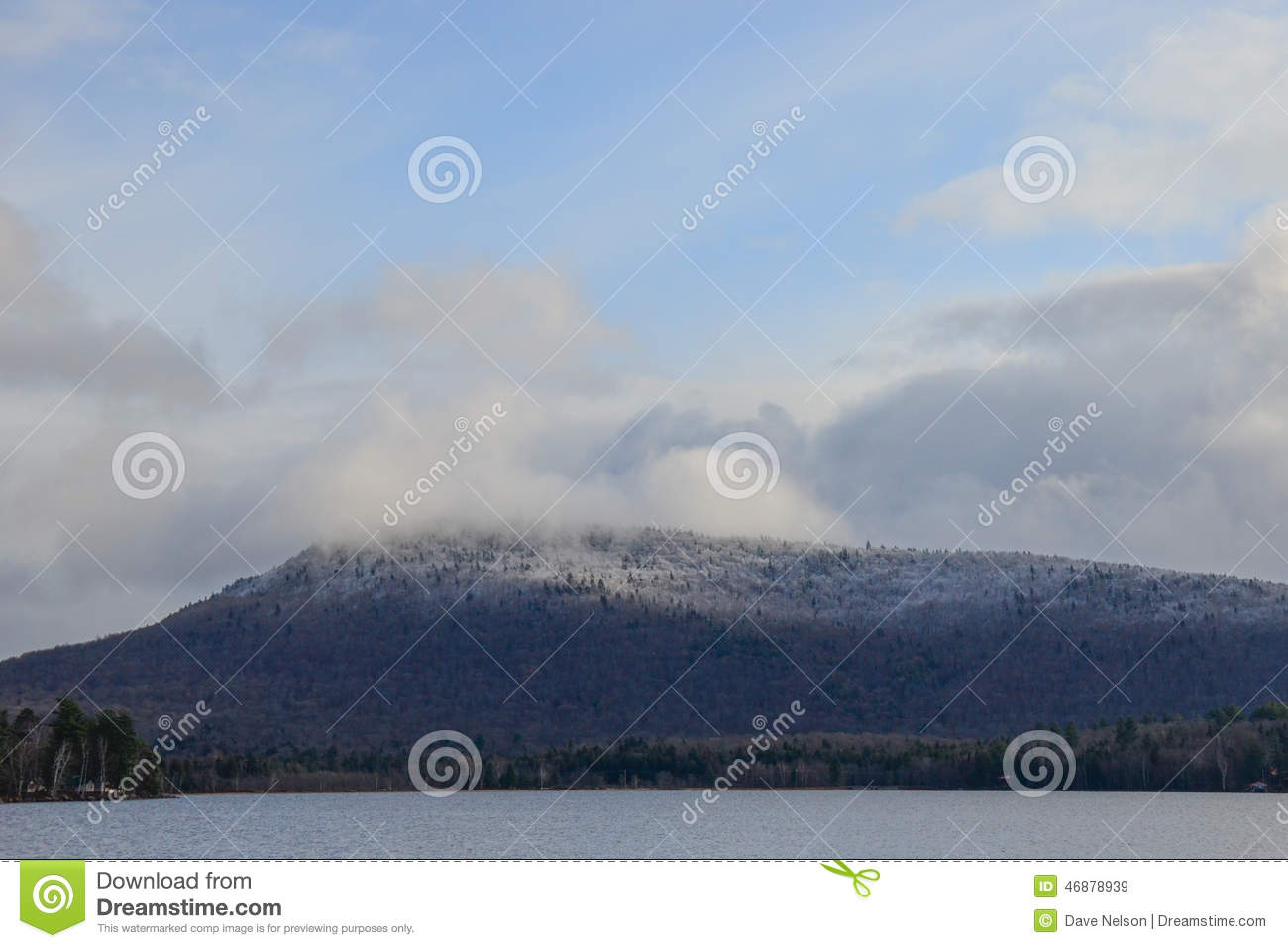 Speculator Mountain Stock Photo.