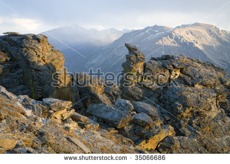 Longs Peak Stock Photos, Royalty.