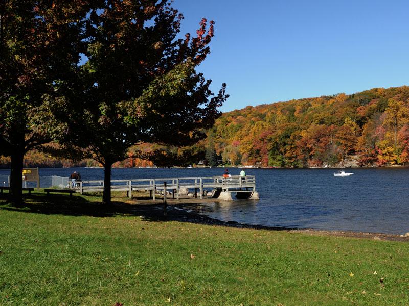 Squantz Pond State Park, a Connecticut park located near Bethel.