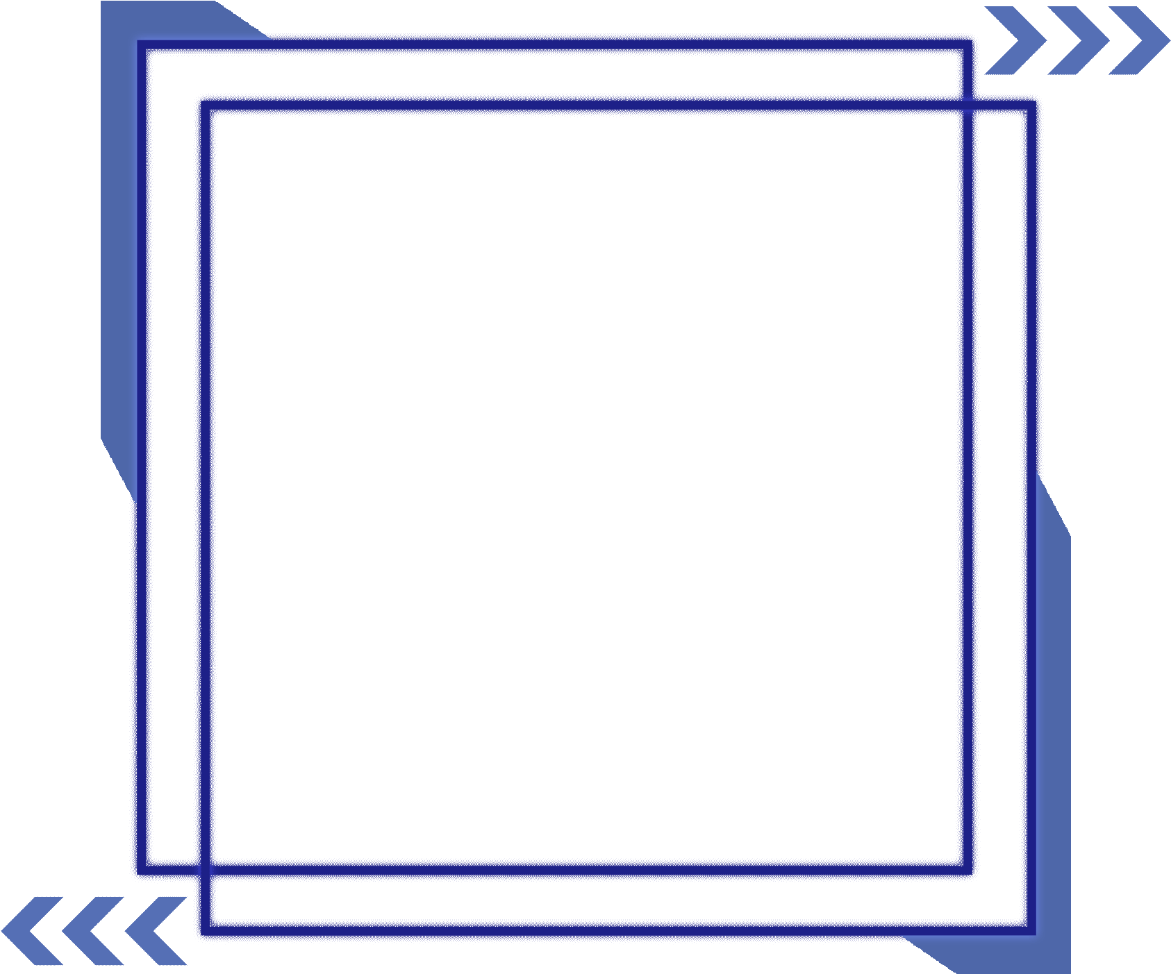 Light Blue Glowing Square Textured Border Png And.