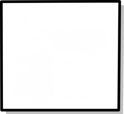 Square Clip Art Black And White.