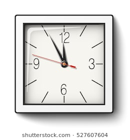 Square clock clipart black and white » Clipart Station.