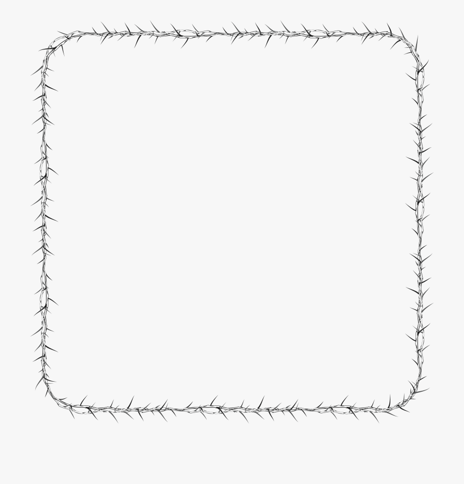 Free Clipart Of A Square Frame Made Of Thorns.
